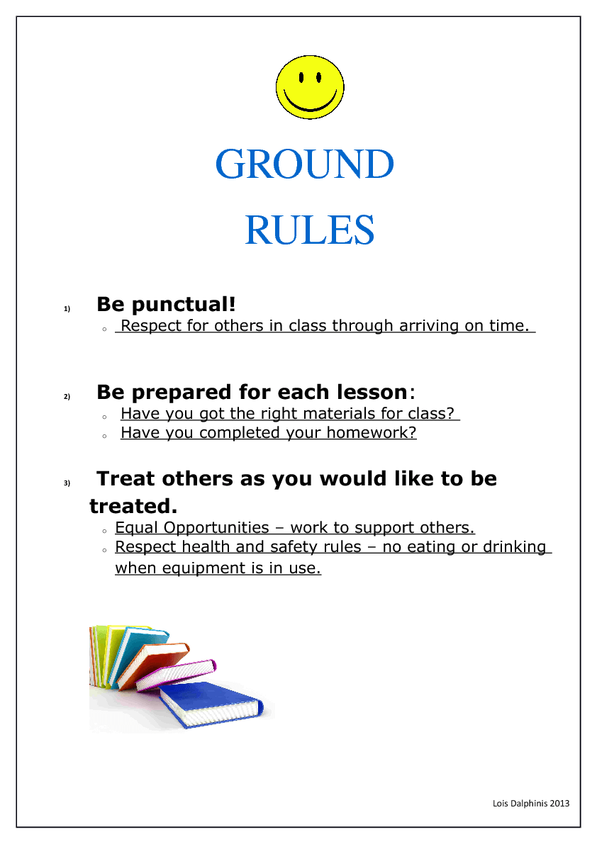Comfort clipart ground rules Management Classroom Ground Discipline and