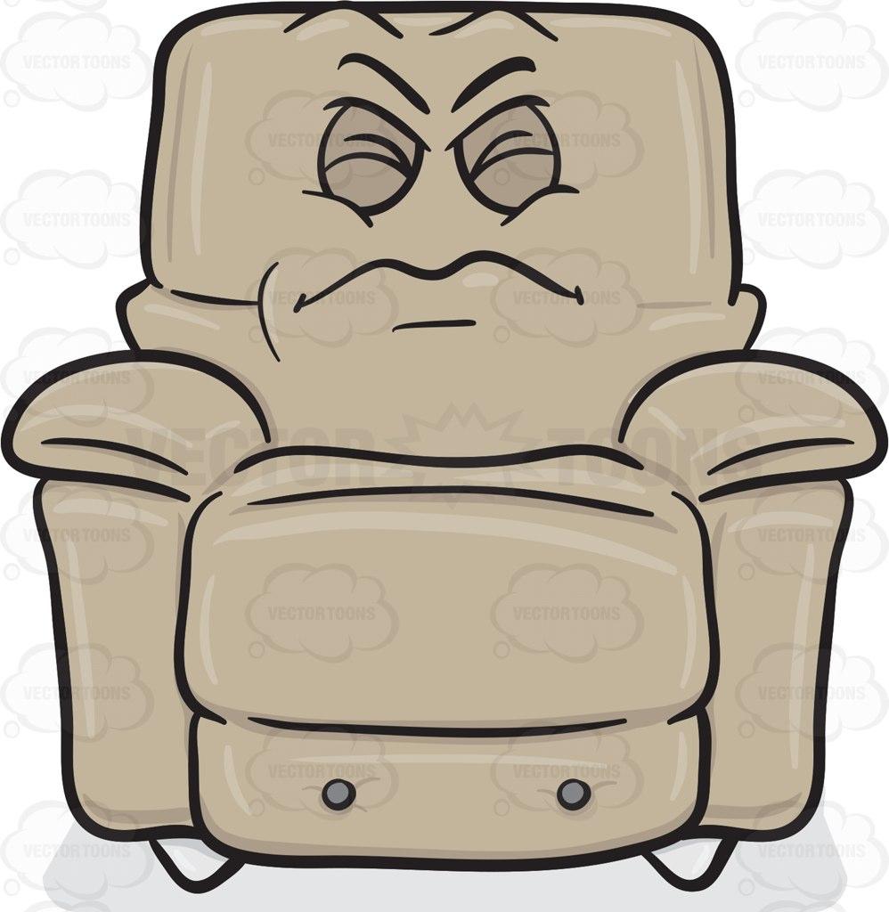 Comfort clipart recliner  Clipart Stuffed On Disgruntled