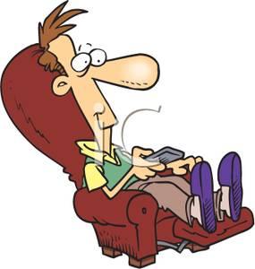 Comfort clipart recliner Remote His Image: Image: Art