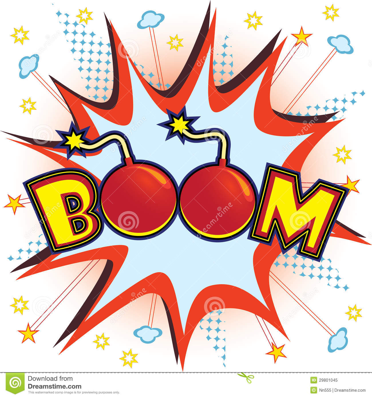 Comic clipart dynamite explosion Clipart Book Comic Boom Download