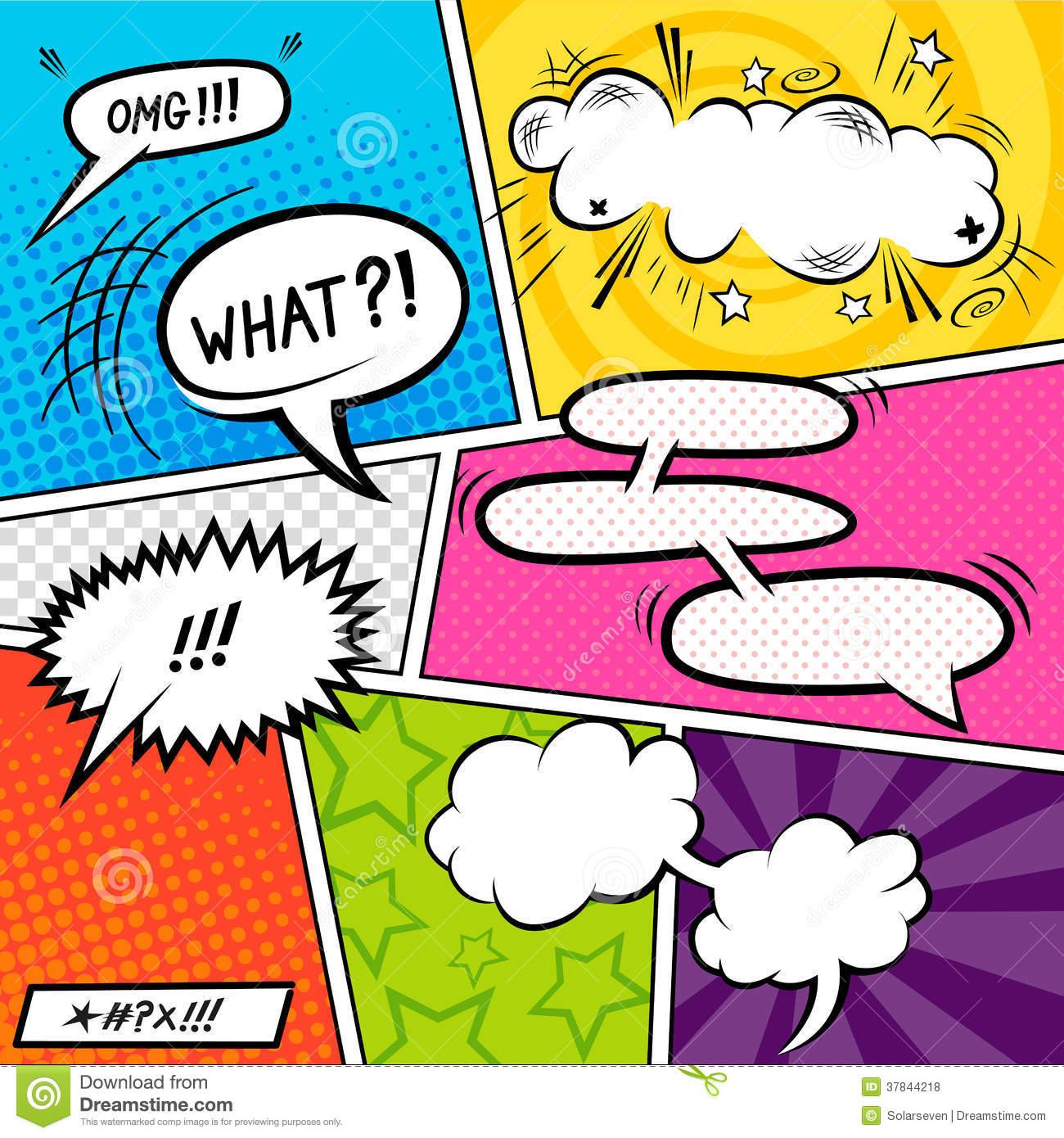 Comic clipart Comic art clipart Stock clip