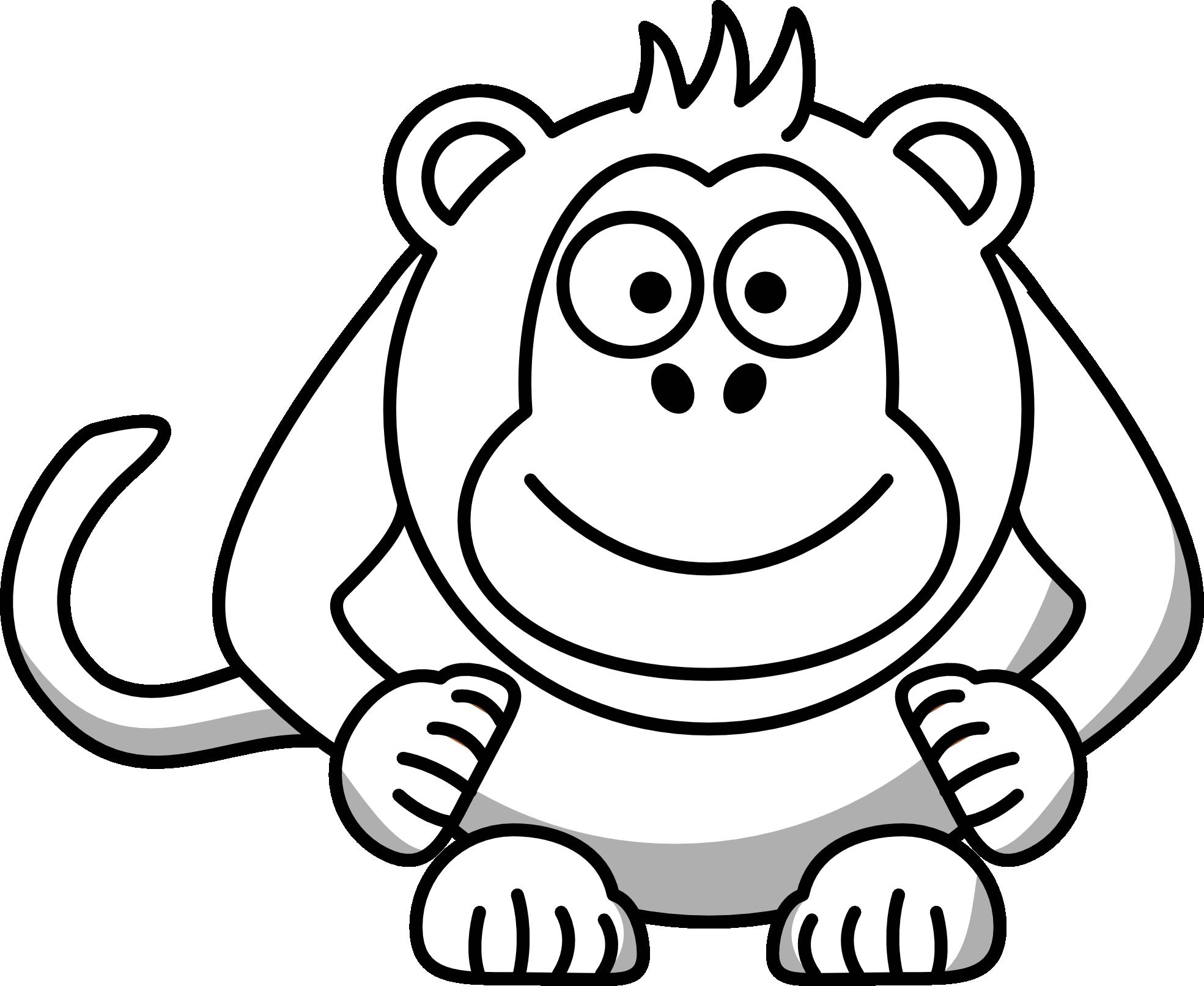 Cartoon clipart black and white Cartoon  Clipart White Black