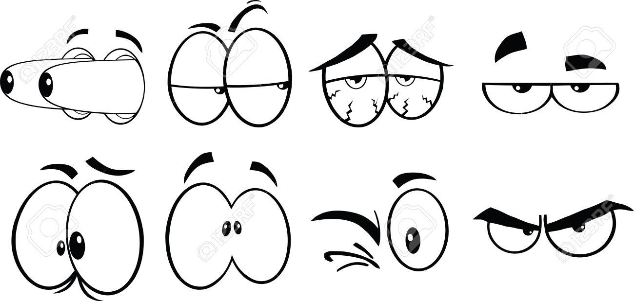 Comic clipart eye Cartoon Eyes vector Cartoon Black