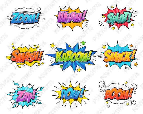 Comic clipart hero word Text file a Clipart This