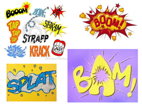 Comic clipart onomatopoeia Teaching Man Comics by rosabellaangelica