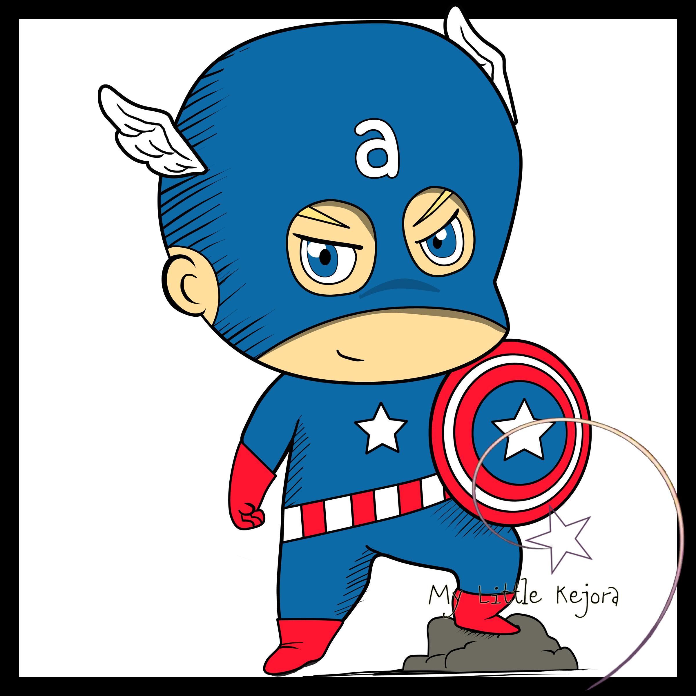 America clipart cartoon America Captain Vs avengers clip