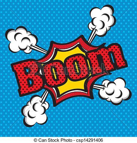 Boom clipart vector Comics icon comics Illustration