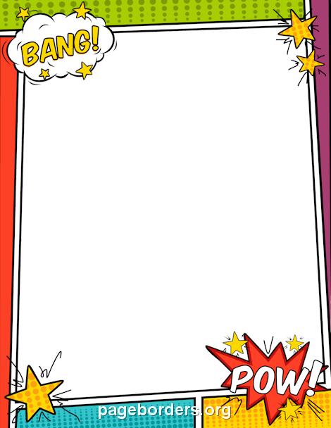 Comics clipart border Page Graphics and Border: Comic