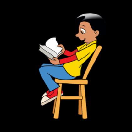 Comics clipart boy reading a book #9