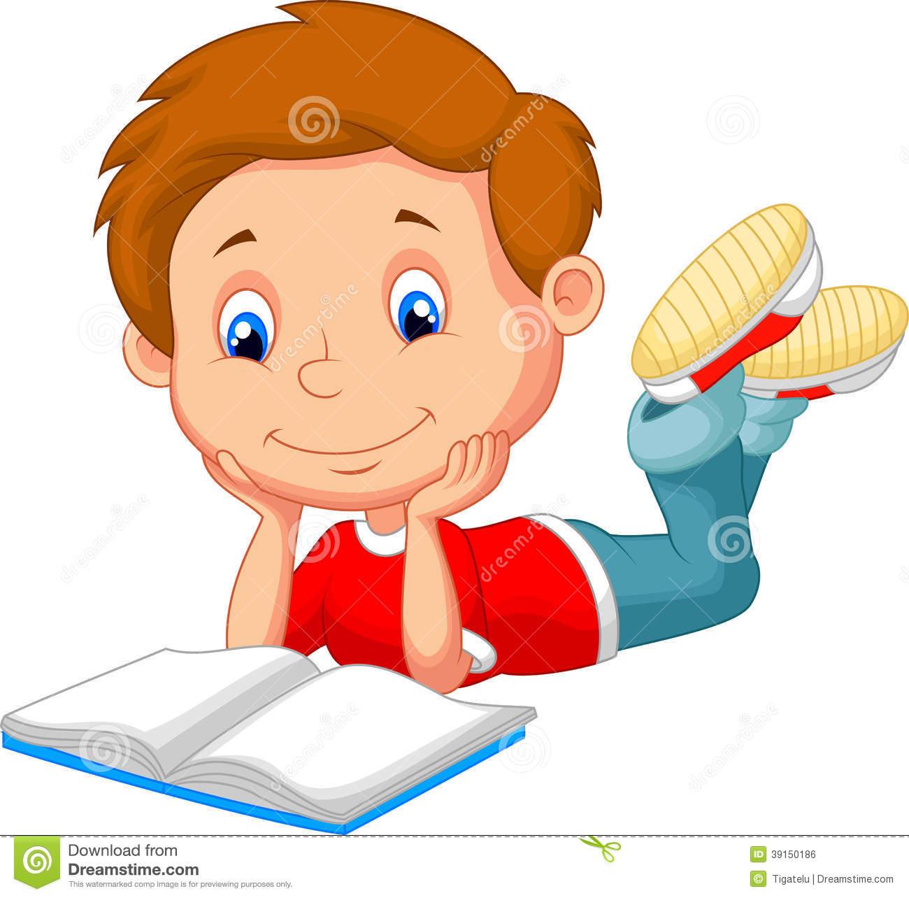 Comics clipart boy reading a book #4