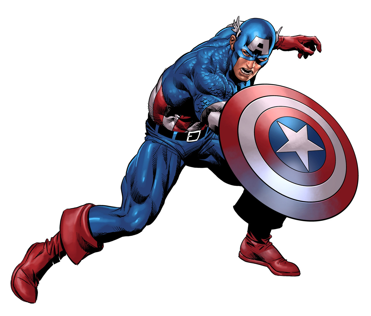 Comic clipart capt America by Colors by