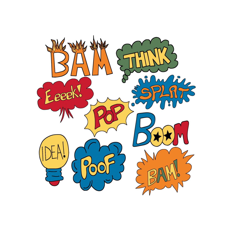 Word clipart cartoon 9 9 Vector Art Drawn