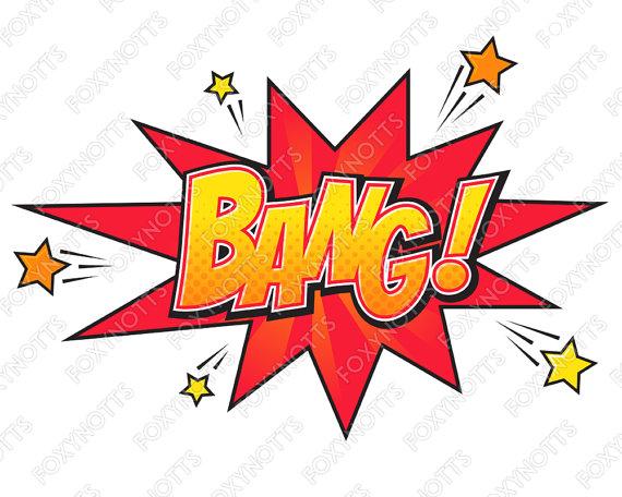 Comics clipart hero word Digital Bubbles Superhero Clipart Words