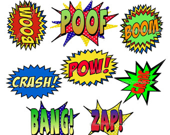Comic clipart hero word Images hero Printable Clipart Clipart