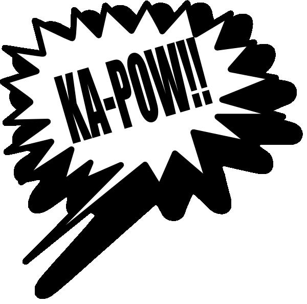 Comics clipart kapow Clker at domain Clip clip