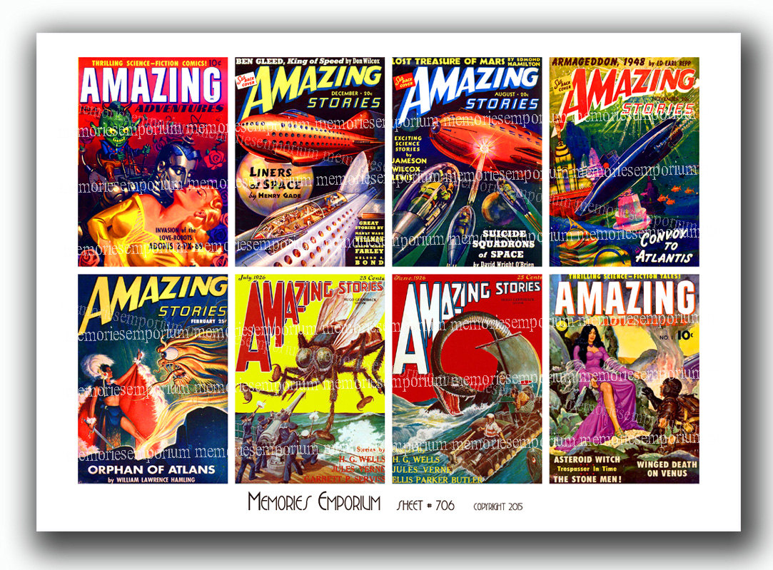 Comics clipart magazine  Printable Retro 706 Futuristic