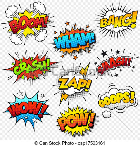 Comic clipart onomatopoeia Of Collection of Art Clip