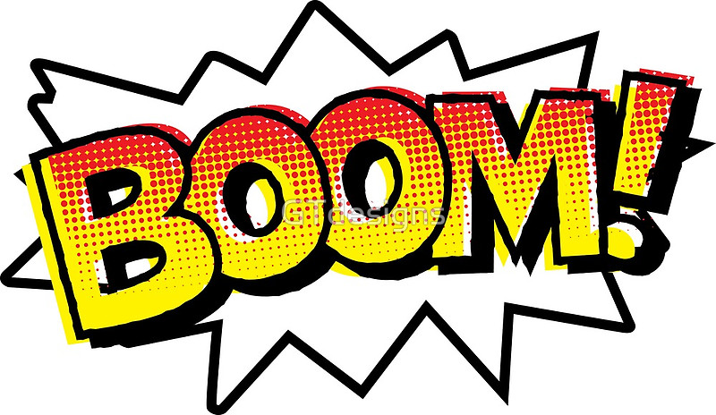 Comic clipart onomatopoeia Comic Prints BOOM! Comic GTdesigns