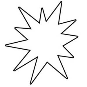 Comics clipart starburst Black White burst Pretty And