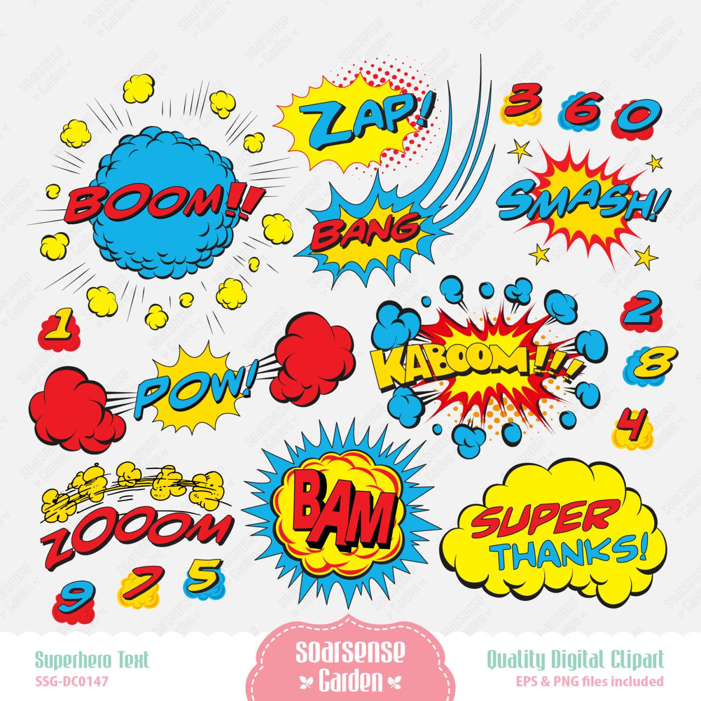 Comics clipart superhero #15