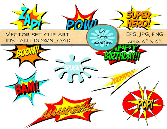 Comics clipart superhero #14