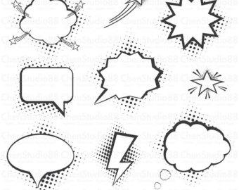 Comic clipart dialogue box Files included bubbles vector Download