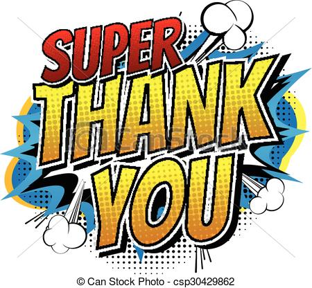 Comic clipart thank you Clip of style Art word