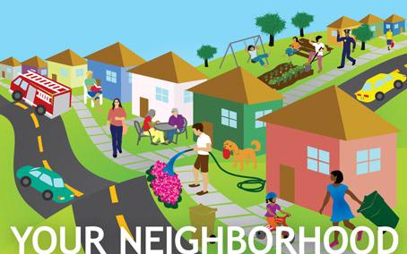 Community clipart Neighborhood Map Clipart Clip Clip