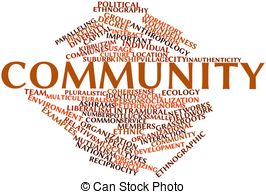 Community clipart Abstract word Community Clip Community