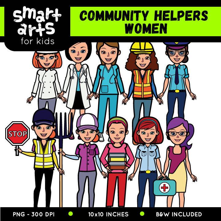 Community clipart cartoon Community Cartoon helpers Clipart Women