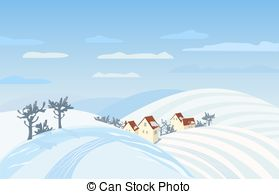 Community clipart country landscape  Free winter Countryside landscape