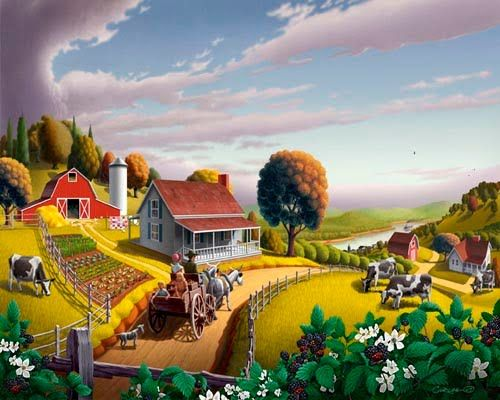 Community clipart country landscape Find farm Pinterest on Pin
