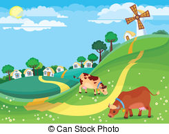 Community clipart country landscape  897  landscape illustration