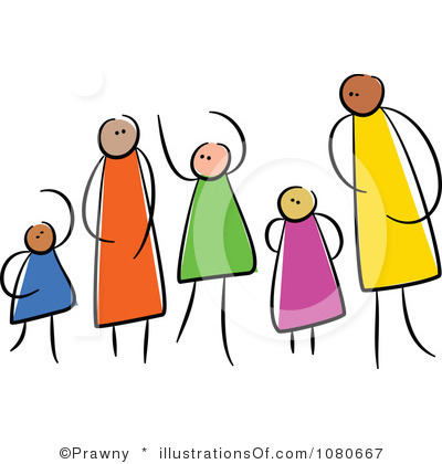 Community clipart diverse family Clip Art Family Family Art