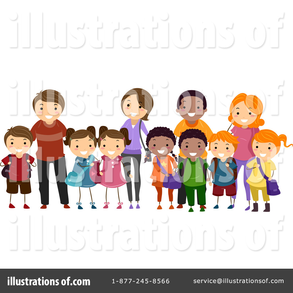 Community clipart diverse family By Clipart Design (RF) Sample
