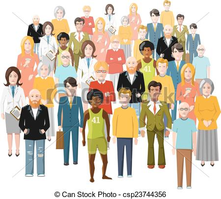 Old clipart group old person Different people Vector group old