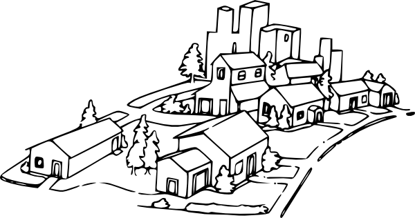 Community clipart housing community Clip Clker at Houses as: