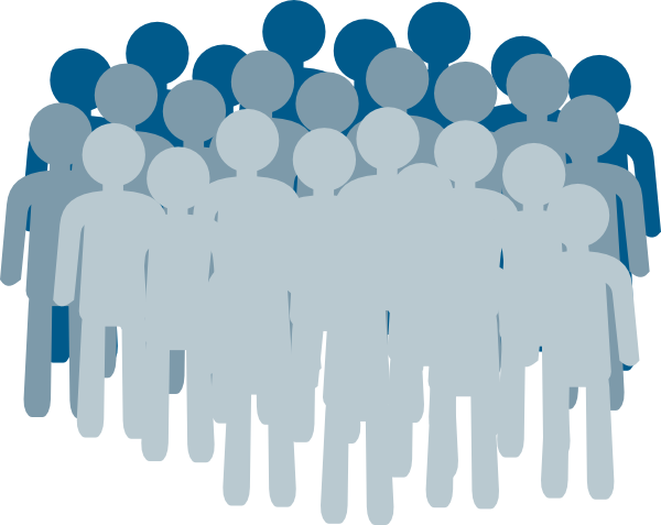 Crowd clipart abstract Large PNG: medium free vector