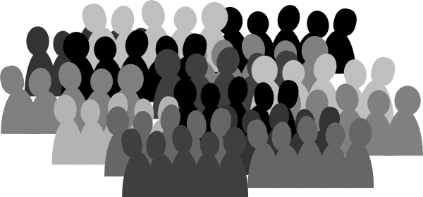 Audience clipart large crowd  Tags Clip Art Grey