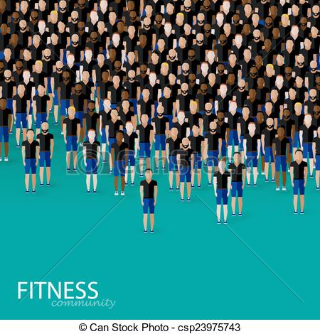 Crowd clipart large crowd Vector crowd Vector of of