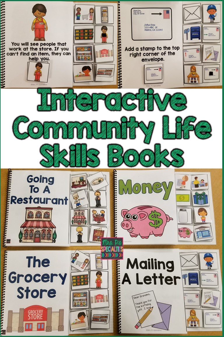 Community clipart life skill Autism for Use as skills