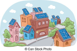 Community clipart peaceful community Solar Vector Clip Community