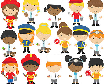 Community clipart person Helpers digital helpers Etsy Clip
