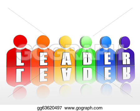 Community clipart person Makes colorful signs Leader signs