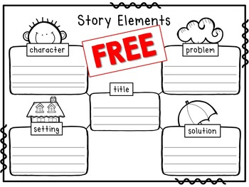 Community clipart story setting Title problem character Worksheet problem