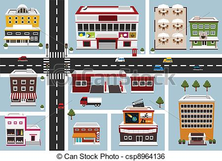 Community clipart street map Art Clipart map Area (73+)
