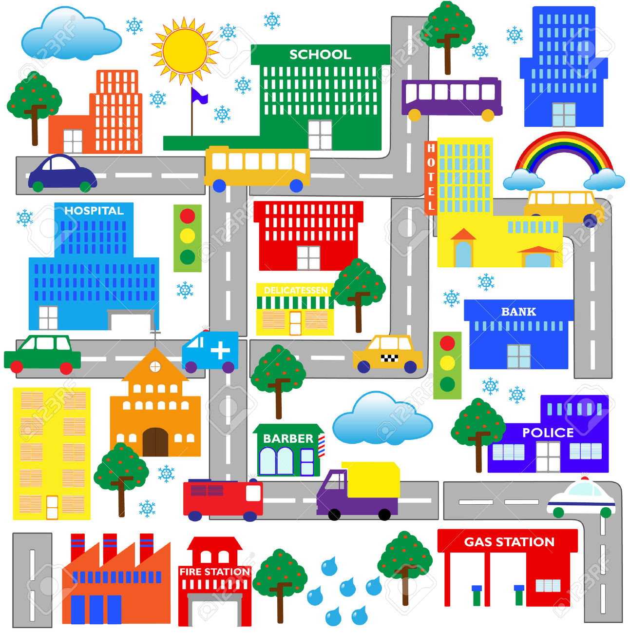 Community clipart street map ClipartFest clipart City BBCpersian7 City
