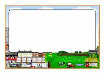 Community clipart town Borders and A4 Community: and