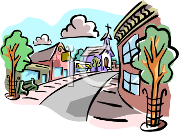 Community clipart town In In Art Town Person