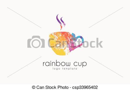 Company Logos clipart creative Rainbow cup csp33965402  Creative